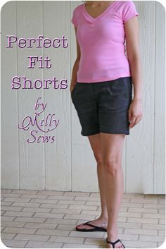 Melly Sews: Perfect Fit Shorts ... how to check a pattern against a great-fitting pair of shorts.