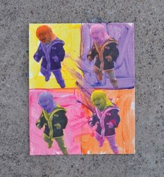 DIY Warhol Finger Paint Fathers Day Crafts - Fathers Day Gifts - Parenting.com