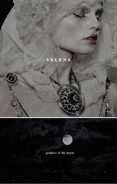 Selene was a Titan goddess in Greek mythology, daughter of the Titans Hyperion and Theia. She had two siblings, Helios and Eos. She was the goddess of the moon, which she drove every night across the skies. Selene was linked to Artemis as well as Hecate; all three were considered lunar goddesses.