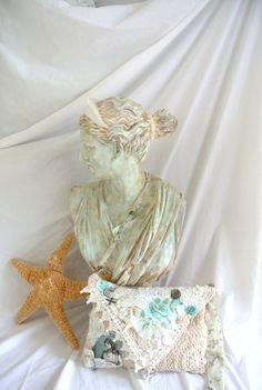 Gypsy Mermaid purse boho envelope clutch by TrueRebelClothing 7bac39626a046