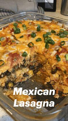 Mexican Dishes, Mexican Food Recipes, Mexican Meals, Beef Dishes, Food Dishes, Main Dishes, Great Recipes, Favorite Recipes, Mexican Lasagna