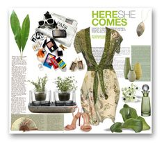 """""""here she comes"""" by sasane ❤ liked on Polyvore featuring St. John, Andrea, Nude, Gucci, Schutz, Lana Jewelry, Ippolita and Cultural Intrigue"""