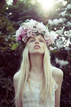 Flowers in her hair/karen cox..flowers