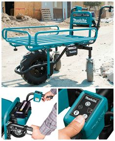 The power assisted Makita flat dolly is like a wheelbarrow on steroids! #affiliate