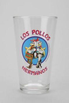 Breaking Bad Los Pollos Hermanos Pint Glass #urbanoutfitters #breakingbad
