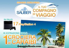 Vinci PlayStation 4 o crociera ai Caraibi con Sauber - http://www.omaggiomania.com/concorsi-a-premi/vinci-playstation-4-crociera-caraibi-sauber/