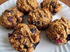 Whole-Wheat Blueberry Banana Bran Muffins (whew, that's a lot of b's).