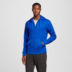 Men's Big & Tall Sizes Tech Fleece Full Zip Hoodie Blue 3XL - C9 Champion, Size: Xxxl