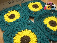 Sunflower Granny Square REDONE in HD