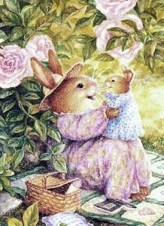 Risultati immagini per wheeler susan peinture paques Susan Wheeler, Winter Illustration, Cute Illustration, Bunny Art, Cute Bunny, Beatrix Potter, Bunny Painting, Kawaii, Woodland Creatures