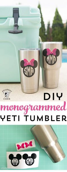 How To Make Waterproof Vinyl Monogramsbecause Everything I Own - How to make vinyl decals for cups