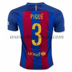 Barcelona Nogometni Dresovi 2016-17 Pique 3 Domaći Dres Komplet
