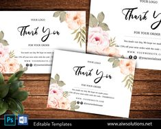 simple and elegant Editable thank you card template, minimal style card, card template for online shop, care card, instruction card template #OrderThankYouCard #ThankYouCards #ThankYouCard #WeddingThankYou #MiniTags #WordTemplate #FoldedThankYou #CuteThankYouCard #Postcard #BusinessMarketing