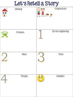 Retelling Chart and New Stores - Fun in First Grade