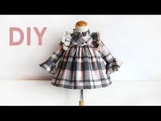 Diy. Vestido niña de manga larga. Patrón vestido de niña con patronesmujer. - YouTube