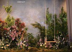 Putnam & Putnam Large Scale Installation Workshop presented by Ellermann Flower Boutique - Hong Kong, April 2018 Backdrop Decorations, Wedding Decorations, Studio Decor, Flower Installation, Garden Studio, Art Plastique, Photo Studio, Event Design, Photo Booth