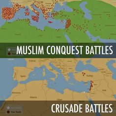 Interesting but little known fact: The crusades were not initiated as an aggresive move but rather to defend.