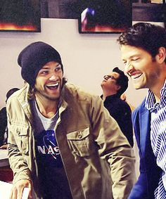 #Supernatural-Jared Padalecki and Misha Collins/Sam Winchester and Castiel