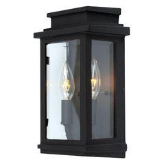 """11""""h x 7""""w, $129, @ LIGHTFilament Design Moravia 2-Light Black Outdoor Sconce-CLI-ACG829144 - The Home Depot"""