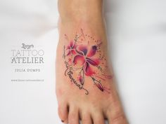 Flower Aquarell Tattoo