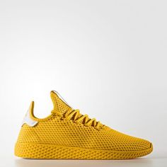 Pharrell Williams x adidas Tennis HU Gold - Grailify Pharrell Williams, Gold Shoes, Men's Shoes, Suede Leather, Leather Boots, Shoe Collection, Adidas Shoes, Adidas Women, Sneakers
