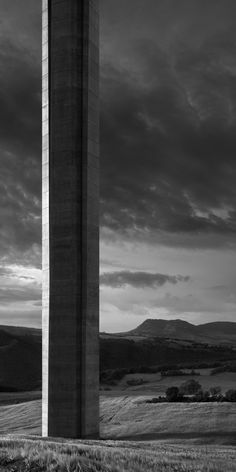 base of one of the towers at Norman Foster's Millay Viaduct - photo Aitor Ortiz