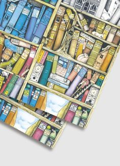 Colin Thompson Wrapping Paper - Bookshelf