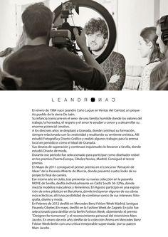 """Biografia de Leandro Cano para su exposición Un alma infeliz que nunca dijo """"Te Quiero"""" en nuestro espacio Wabi Sabi Shop"""