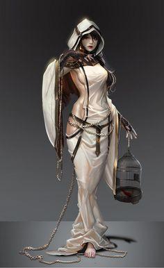 ArtStation - Priestess Arcana, Yujin Jung