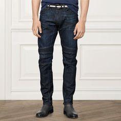 PURPLE LABEL* Slim Fit Moto Jeans