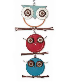 Look what I found on #zulily! Red & Blue Owls Bouncy Ornament #zulilyfinds