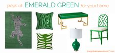 emerald green things | ... Emerald Green and an EXCLUSIVE Sylvia Benson Giveaway! | Things That