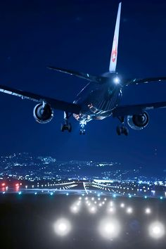 "luxuriousimpressions: "" Airplane of night view Return 