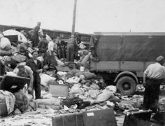 Auschwitz Birkenau, Poland, Sorting personal belongings of the soon to be killed or moved to slave labor