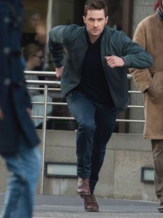 Richard running towards the final episode of Berlin Station