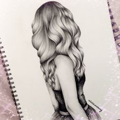 hair sketch for tattoo Amazing Drawings, Love Drawings, Beautiful Drawings, Drawing Sketches, Amazing Art, Art Drawings, Drawing Ideas, Sketching, Pencil Drawings