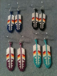 4 Feather Earrings (style1)