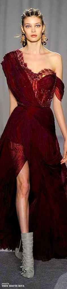 #NYFW Marchesa Fall/Winter 2014 RTW - love the dress I want cornrows