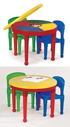 Play Tables and Chairs 66743 Ecr4kids 3 Piece Natural Bentwood
