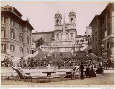 Chiesa della Trinita dei Monti con la Scalinata  : Circa 1875