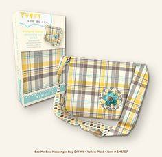 DIY Sewing Kit: Yellow Messenger Bag by innkeeperscloset on Etsy