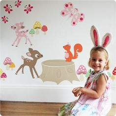 Removable wall sticker Enchanted Wood by Cocoon Couture