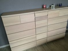 A laundry basket hidden in MALM chest of drawers   IKEA Hackers