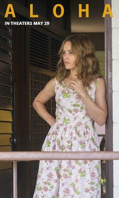Wavy Hair and A Floral Dress - cute for a tropical vacation! Aloha in theaters May 29th. Sponsored by ALOHA.