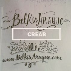 Del verbo crear. Bocetos de Gabriela Chacín Estrada para mi blog <3