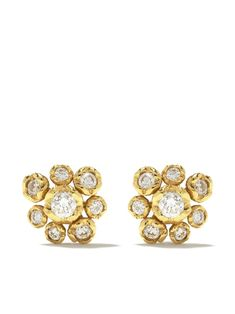 yellow gold diamond Hidden Reef stud earrings from Annoushka featuring butterfly fastening, floral detail and diamonds with . Two's company! These earrings come as a pair . Annoushka, Butterfly, Stud Earrings, Pairs, Detail, Yellow, Two's Company, Floral, Stuff To Buy