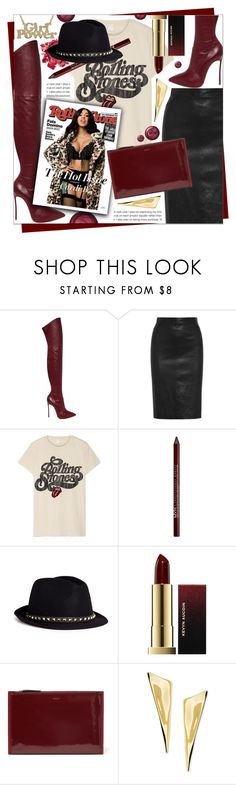 """ROCK BABY"" by celine-diaz-1 ❤ liked on Polyvore featuring Casadei, Givenchy, MadeWorn, Carlos by Carlos Santana, Charlotte Russe, Valentino, Kevyn Aucoin, DKNY and Alexis Bittar"