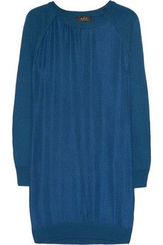 A.P.C. Silk and Merino Wool Dress