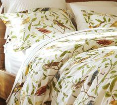 Spring Sparrow Duvet Cover & Sham | Pottery Barn- adore this print