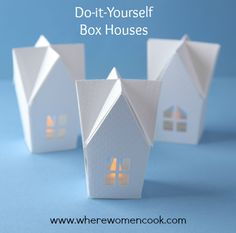 Where Women Cook | Sizzix/Where Women Cook Simple Project Idea: Do-it-Yourself Box Houses | http://wherewomencook.com